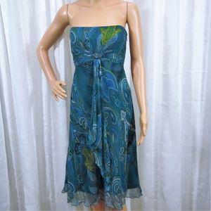 Laundry by Shelli Segal Strapless Silk Dress